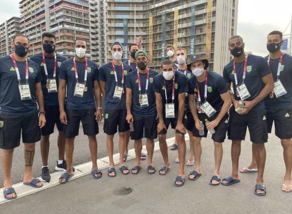 Đội tuyển bóng chuyền Brazil ở Làng VĐV