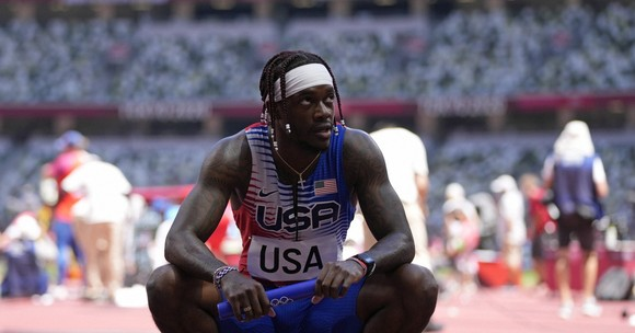 """""""Bại tướng của Usain Bolt"""" Andre de Grasse xưng hùng ở cự ly 200m, tuyển Mỹ bị loại ở cự ly tiếp sức 4x100m ảnh 4"""