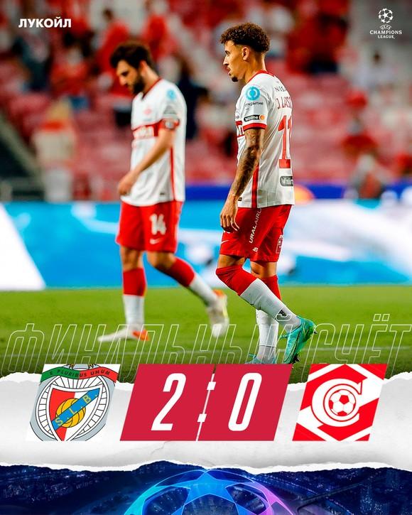 """Spartak Moscow thua """"toàn tập"""" Benfica 0-4: Sự khác biệt giữa 2… """"thiên hà"""" ảnh 1"""
