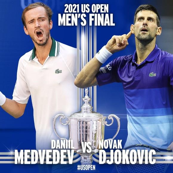 """US Open: """"Báo thù"""" Alexander Zverev, Novak Djokovic tái đấu """"kình địch mới"""" Daniil Medvedev ở chung kết ảnh 4"""