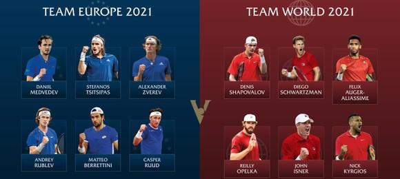 Đội tuyển châu Âu vs Đội tuyển Thế giới ở Laver Cup 2021