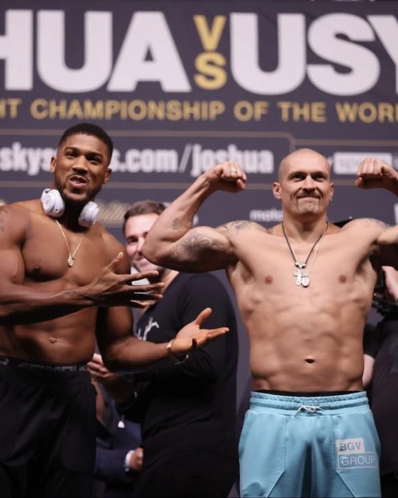 """Anthony Joshua vs Oleksan Usyk: AJ """"cơ bắp"""" nặng 108kg, Miêu hiệp nặng hơn 100kg, nhưng trọng lượng """"không là vấn đề"""" ảnh 4"""