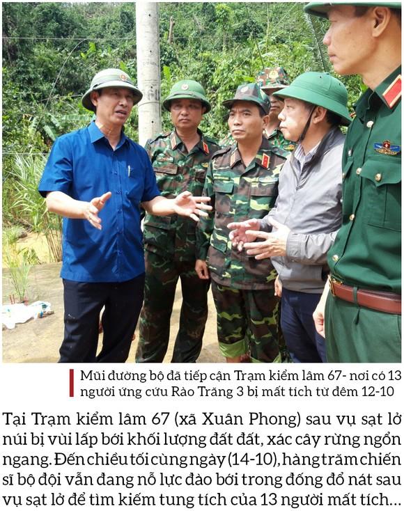 Toàn cảnh cuộc vượt rừng tìm kiếm, cứu nạn người mất tích ở Rào Trăng 3 ảnh 20