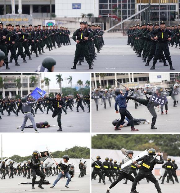 Các lực lượng tổng duyệt phương án bảo vệ Đại hội Đảng lần thứ XIII ảnh 11