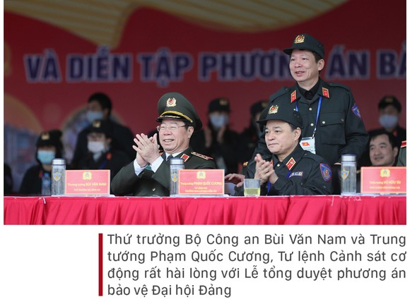Các lực lượng tổng duyệt phương án bảo vệ Đại hội Đảng lần thứ XIII ảnh 13