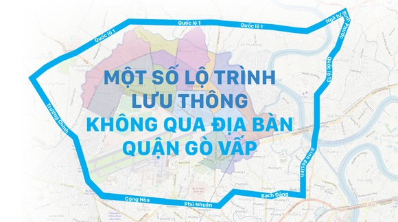 Một số lộ trình lưu thông không qua địa bàn quận Gò Vấp