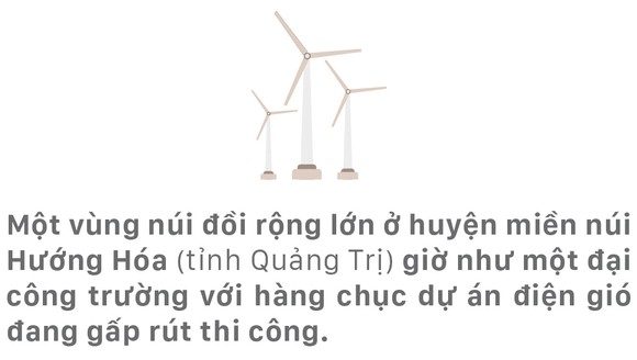 Trên đại công trường điện gió ở huyện miền núi Quảng Trị ảnh 1