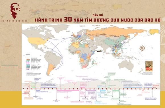 """Ra mắt """"Bản đồ Hành trình 30 năm tìm đường cứu nước của Bác Hồ""""  ảnh 1"""