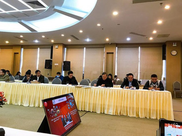 The ceremony to introduce the online portal and app for notary services, held in Ho Chi Minh City. (Photo: SGGP)