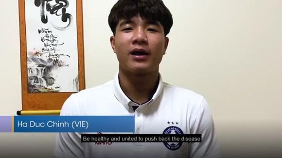 Đức Chinh đưa những thông điệp của mình trên trang AFC