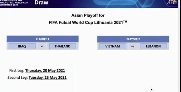 Futsal Việt Nam tranh vé đi World Cup với Lebanon ảnh 2