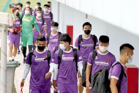 ĐT Việt Nam bắt đầu tái khởi động cho vòng loại World Cup 2022. Ảnh: MINH HOÀNG