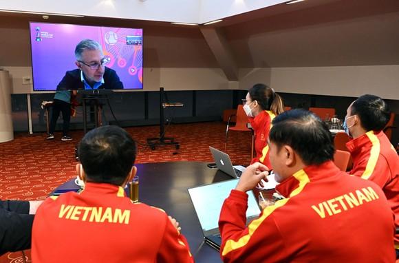 Đại diện đội tuyển Việt Nam tham gia họp kỹ thuật trực tuyến