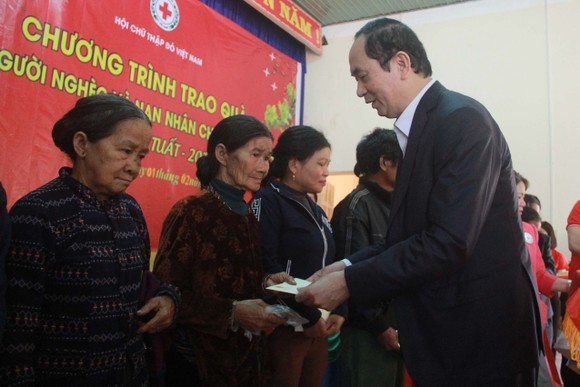 Chủ tịch nước Trần Đại Quang thăm, chúc tết đồn biên phòng, xã biên giới tại GIa Lai ảnh 6