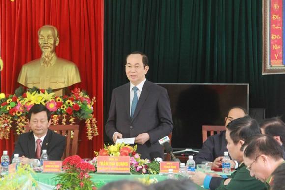 Chủ tịch nước Trần Đại Quang thăm, chúc tết đồn biên phòng, xã biên giới tại GIa Lai ảnh 1