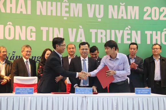 Các bên cùng thống nhất ký Biên bản ghi nhớ về việc bảo trợ, hỗ trợ thí điểm Chuyển đổi số cho xã Hòa Ninh (huyện Hòa Vang, TP Đà Nẵng)