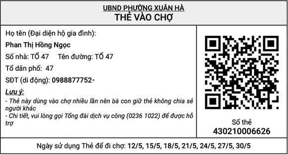 Đà Nẵng: Thí điểm ứng dụng thẻ vào chợ QR-Code từ ngày 24-5 tại 5 phường ảnh 1