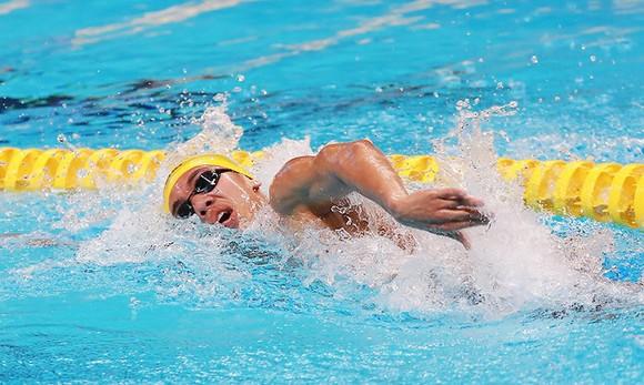 Kình ngư Nguyễn Huy Hoàng là niềm hy vọng vàng của thể thao Việt Nam tại Olympic trẻ 2018. Ảnh: DŨNG PHƯƠNG