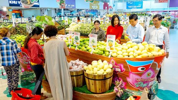 Các loại trái cây đặc sản của tỉnh Đồng Tháp được giới thiệu tại Tuần lễ hàng OCOP ở BigC An Lạc, TPHCM