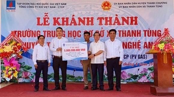 PV GAS tài trợ 5 tỷ đồng xây dựng Trường THCS xã Thanh Tùng, Thanh Chương, Nghệ An ảnh 2