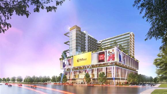 Phối cảnh dự án Trung tâm thương mại – dịch vụ - giải trí, phức hợp do Tập đoàn T&T Group làm chủ đầu tư