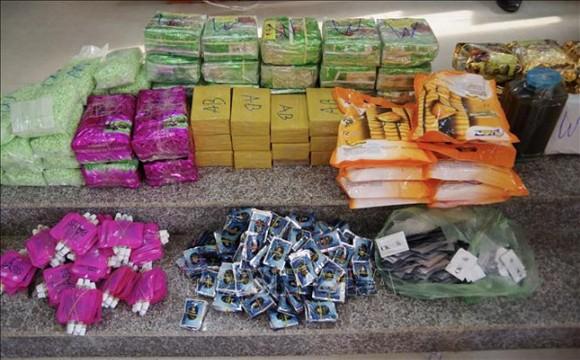 Tang vật gần 90 kg ma túy được lực lượng chức năng bắt giữ. Ảnh: TTXVN