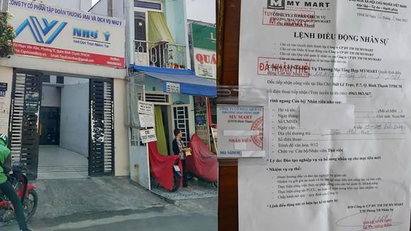 Trụ sở công ty tại số 151 đường Phan Văn Hân, phường 17, quận Bình Thạnh và lệnh điều động nhân sự, thẻ nhân viên cấp cho người tìm việc