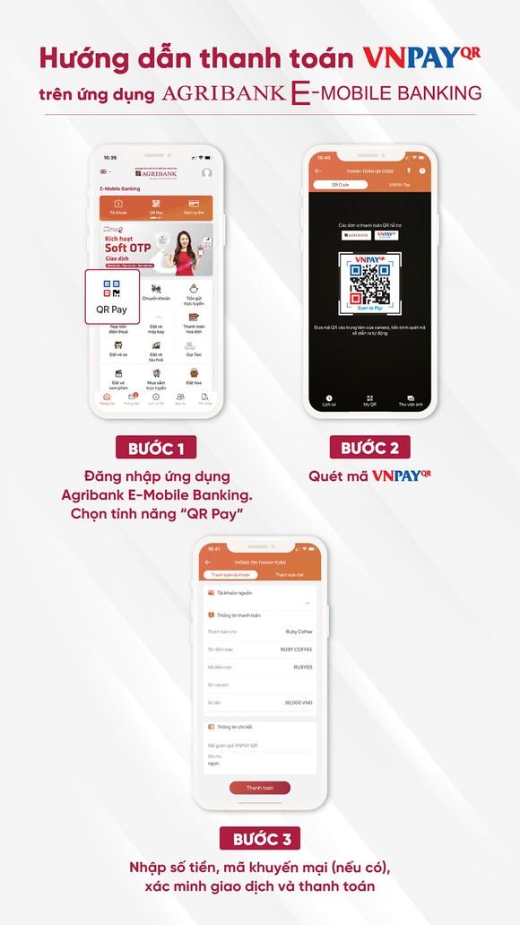 Đón Tết Tân Sửu 2021 - Thanh toán QR Pay nhận 'siêu quà tặng' trên ứng dụng Agribank E-Mobile Banking ảnh 2