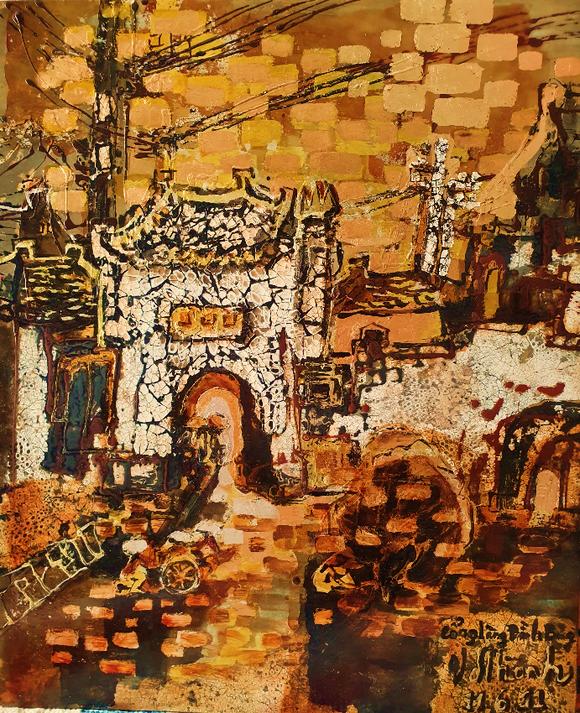 Triển lãm tranh 'Memories of home land'- 'Kỷ niệm hương quê' của họa sĩ Văn Dương Thành  ảnh 3