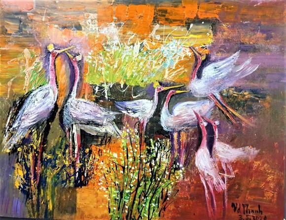 Triển lãm tranh 'Memories of home land'- 'Kỷ niệm hương quê' của họa sĩ Văn Dương Thành  ảnh 5