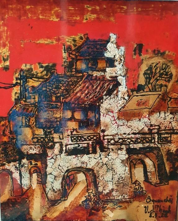 Triển lãm tranh 'Memories of home land'- 'Kỷ niệm hương quê' của họa sĩ Văn Dương Thành  ảnh 8