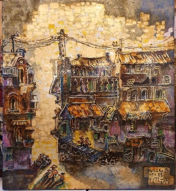 Triển lãm tranh 'Memories of home land'- 'Kỷ niệm hương quê' của họa sĩ Văn Dương Thành  ảnh 9