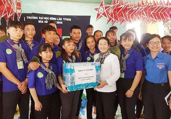 Lãnh đạo TPHCM thăm chiến sĩ tình nguyện Mùa hè xanh tại Gia Lai ảnh 1