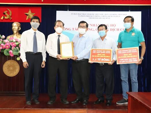Hội thánh Tin Lành Việt Nam (miền Nam) ủng hộ 1,1 tỷ đồng cho công tác phòng, chống dịch Covid-19 TPHCM ảnh 1