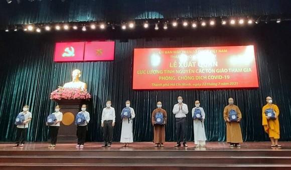 299 tình nguyện viên thuộc các tôn giáo tham gia phòng, chống dịch Covid-19 ảnh 4