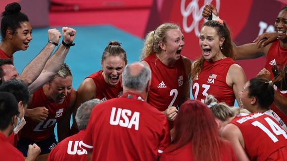 Đổi tuyển bóng chuyền nữ Mỹ đã có một mùa giải rất thành công ở Nhật Bản. Ảnh: GETTY IMAGES