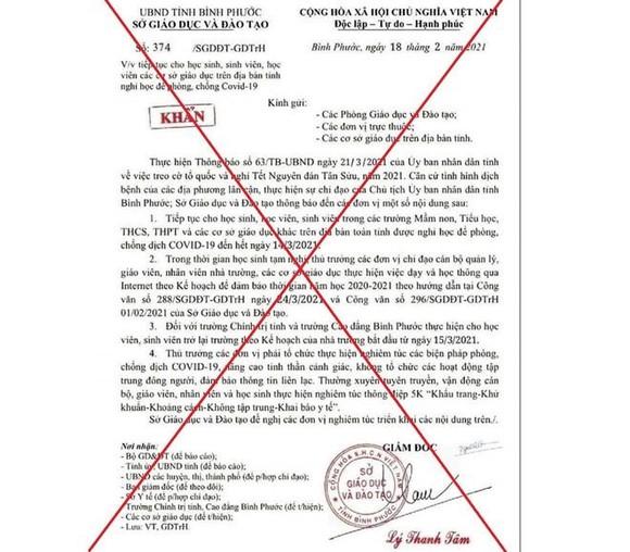 Đề nghị xử phạt 10 triệu đồng người đăng công văn giả mạo cho học sinh nghỉ học ảnh 1
