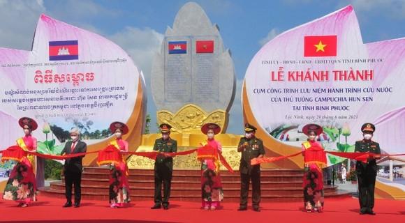 Khánh thành cụm công trình lưu niệm hành trình cứu nước của Thủ tướng Campuchia Hun Sen ảnh 1
