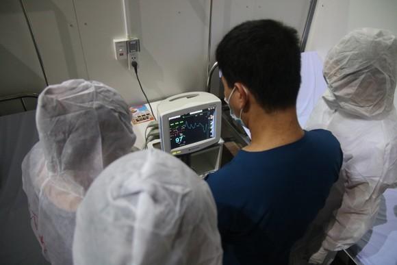 Bệnh viện dã chiến Tiên Sơn diễn tập tiếp nhận bệnh nhân với số lượng lớn ảnh 7