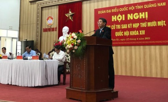 Phó Chủ tịch Quốc hội Nguyễn Đức Hải tiếp xúc cử tri tỉnh Quảng Nam ảnh 2