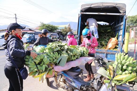Chợ chuối mật mốc vùng biên lớn nhất miền Trung nhộn nhịp dịp cuối năm ảnh 6