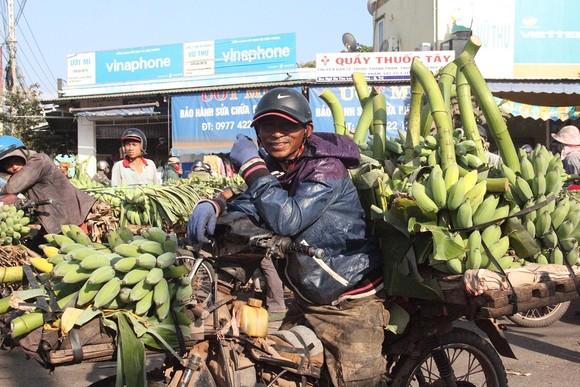 Nụ cười của nông dân vì chuối vừa được mùa vừa bán được giá cao.