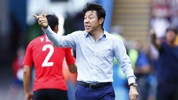 HLV Shin Tae-yong của Indonesia từng giúp Hàn Quốc đánh bại Đức tại World Cup 2018. Ảnh: GOAL