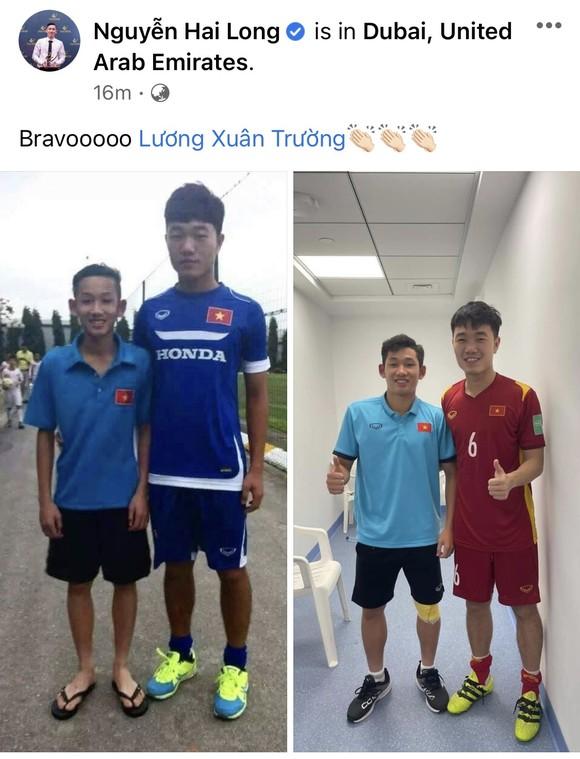 Hùng Dũng cùng con trai chúc mừng chiến thắng của tuyển Việt Nam ảnh 5