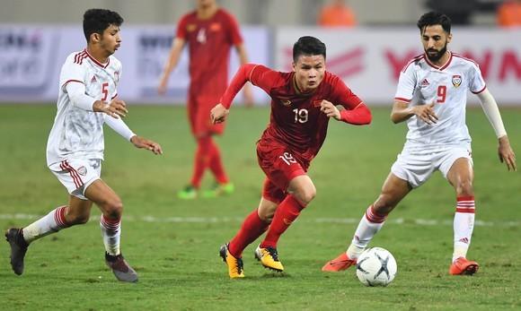 Đội tuyển Việt Nam từng đánh bại UAE 1-0 tại trận lượt đi. Ảnh: MINH HOÀNG