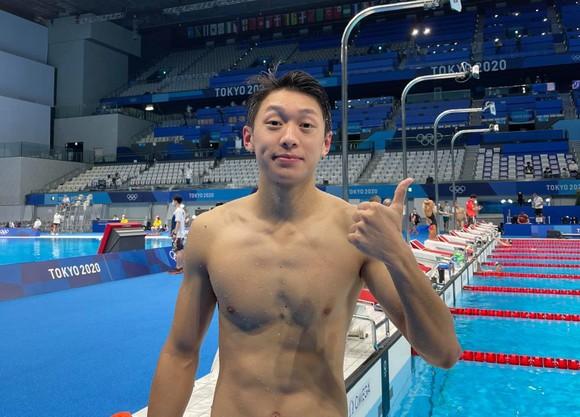Kình ngư Santisouk Inthavong không thể tạo được bất ngờ tại Olympic Tokyo 2020. Ảnh: FBNV