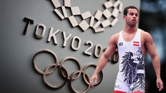 Nam đô vật người Iraq Aker Al Obaidi tại Olympic Tokyo 2020