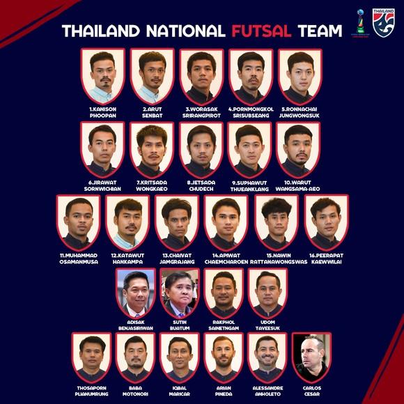 Thái Lan vô địch giải futsal tứ hùng 'làm nóng' trước thềm World Cup ảnh 1