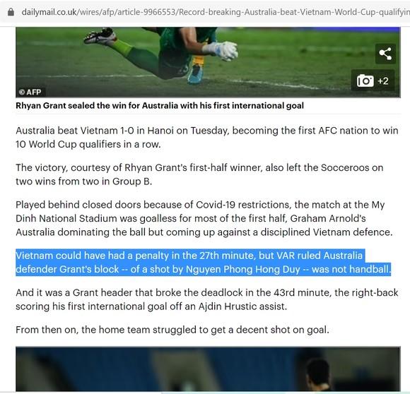 Báo Anh: 'Đội tuyển Việt Nam có thể được hưởng phạt đền' ảnh 1