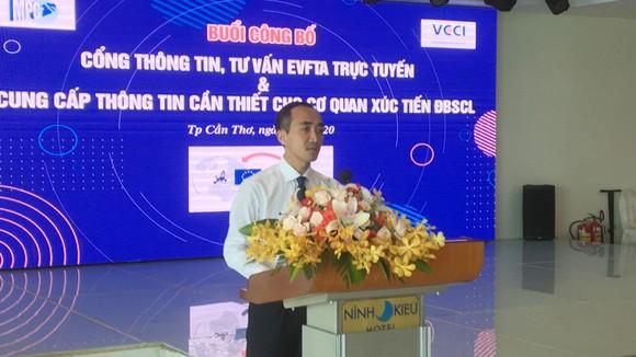 Ông Nguyễn Phương Lam, Giám đốc VCCI Cần Thơ công bố ra mắt cổng thông tin